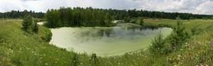 Востановление озера Провал у кладбища села Мухтолово снимок июль 2012 а